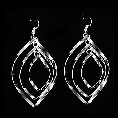 Women's Sterling Silver Silver Drop Earrings - Silver Earrings For Party