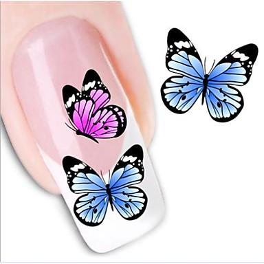 1 pcs 3D Nails Nagelaufkleber Wassertransfer Aufkleber Nagel Kunst Maniküre Pediküre lieblich Abstrakt / Modisch Alltag / 3D Nagel Sticker