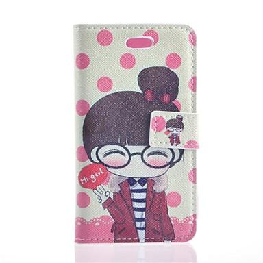 Voor Samsung Galaxy hoesje Portemonnee / Kaarthouder / met standaard / Flip / Patroon hoesje Volledige behuizing hoesje Cartoon PU-leer