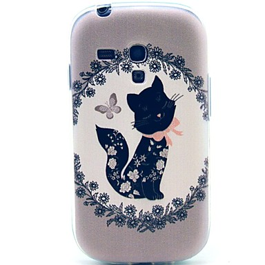 Για Samsung Galaxy Θήκη Με σχέδια tok Πίσω Κάλυμμα tok Γάτα TPU Samsung S3 Mini
