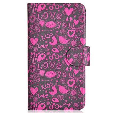 Για Samsung Galaxy Note Θήκη καρτών / Ανοιγόμενη / Με σχέδια tok Πλήρης κάλυψη tok Καρδιά Συνθετικό δέρμα Samsung Note 3