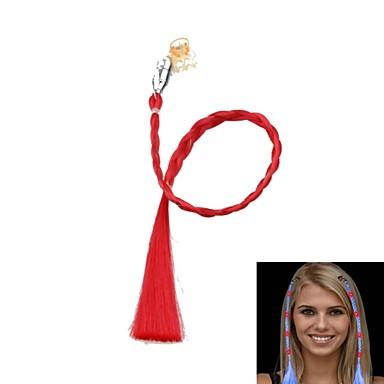 οδήγησε αλλαγή χρώματος φωτεινή πλεξούδα μαλλιών για συναθροίσεις κόμμα στηρίγματα (κόκκινο)