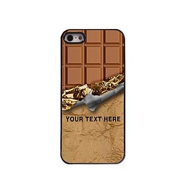 caso de telefone personalizado - caso de chocolate design de metal doce para iPhone 5 / 5s