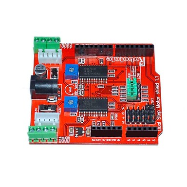 Itead Two Channels Stepper Motor Drive Shield Expansion Board for Arduino - Red