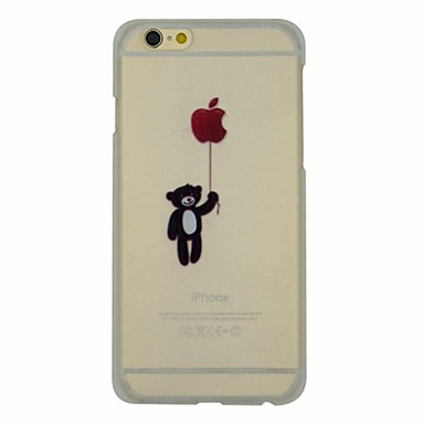 Carton Series of Bear with Balloon Pattern PC Hard Transparent Back Cover Case for iPhone 6 Plus