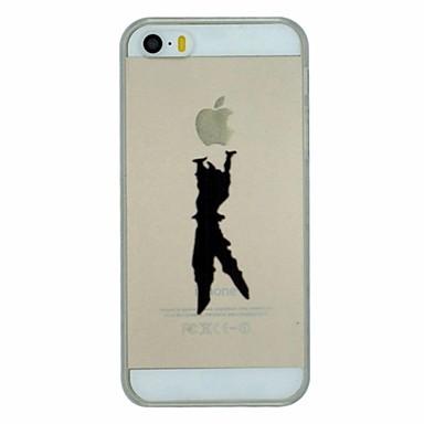 Pouzdro Uyumluluk iPhone 5 Apple iPhone X iPhone X iPhone 8 Plus iPhone 5 Kılıf Şeffaf Temalı Arka Kapak Oynanan Apple Logosu Sert PC için