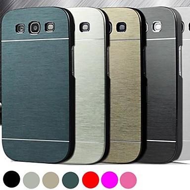 haute qualité couleur unie de luxe DF® aluminium brossé de cas dur pour Samsung i9300 de la (de couleur assortie)
