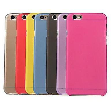 hoesje Voor iPhone 6 iPhone 6 Plus Transparant Achterkantje Effen Kleur Zacht PC voor iPhone 6s Plus iPhone 6 Plus iPhone 6s Iphone 6