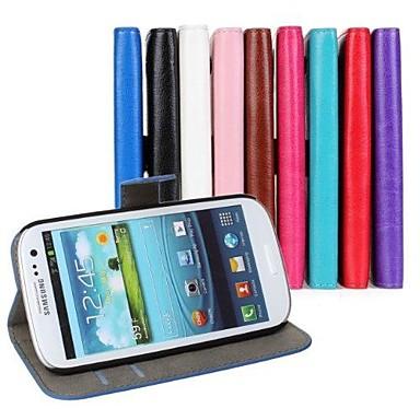 카드 홀더 미친 말 가죽 지갑 플립 케이스는 삼성 S3 I9300를위한 기능을 서