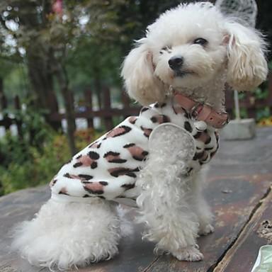 Kedi Köpek Svetşört Pijamalar Köpek Giyimi Leopar Siyah Polar Kumaş Kostüm Evcil hayvanlar için Erkek Kadın's Günlük/Sade
