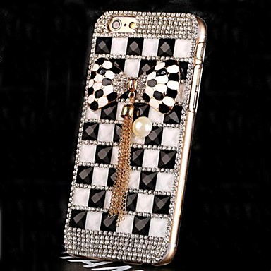luxe diamant parel kristal bowknot Cover Case voor iPhone 6