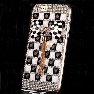 πολυτέλεια διαμαντιών κρύσταλλο μαργαριτάρι bowknot πίσω κάλυψη περίπτωσης για το iphone 6