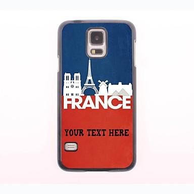caixa do telefone personalizado - francês caixa de metal de desenho de paisagem para Samsung Galaxy S5 Mini