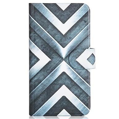 Para Samsung Galaxy Capinhas Porta-Cartão / Com Suporte / Flip / Estampada Capinha Corpo Inteiro Capinha Estampa Geométrica Couro PU