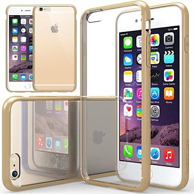 tok Για Apple iPhone 6 iPhone 6 Plus Ανθεκτική σε πτώσεις Διαφανής Πίσω Κάλυμμα Συμπαγές Χρώμα Μαλακή Σιλικόνη για iPhone 6s Plus iPhone