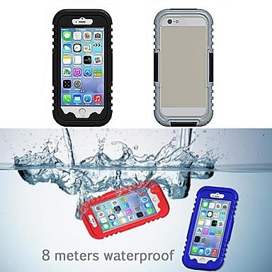 hoesje Voor iPhone 6s Plus iPhone 6 Plus iPhone 6s iPhone 6 iPhone 6 iPhone 6 Plus Waterbestendig Volledig hoesje Effen Kleur Zacht
