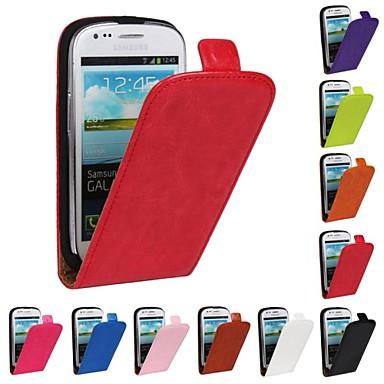 Pouzdro Uyumluluk Samsung Galaxy Samsung Galaxy Kılıf Flip Tam Kaplama Kılıf Tek Renk PU Deri için S3 Mini