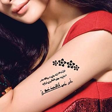 Tatuagens Adesivas Outros Estampado Á Prova d'água Feminino Girl Adulto Adolescente Tatuagem Adesiva Tatuagens temporárias