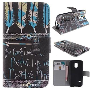 Voor Samsung Galaxy hoesje Kaarthouder / met standaard / Flip / Patroon hoesje Volledige behuizing hoesje Veer PU-leer Samsung S5