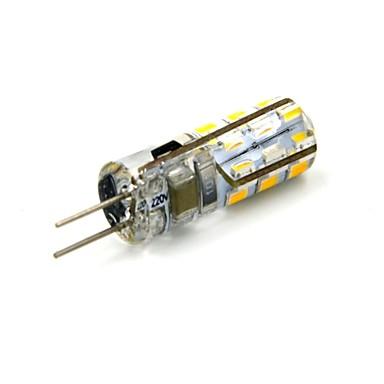 G4 2-pins LED-lampen 24 leds SMD 3014 Warm wit 90~110lm 3000~3500K DC 12V