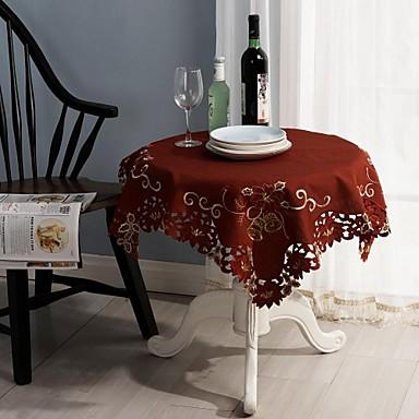 Contemporan Amestec Bumbac Pătrat Fețe de masă Cu model Decoratiuni de tabla
