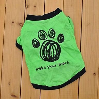 Katzen / Hunde T-shirt Grün Sommer Hochzeit / Cosplay