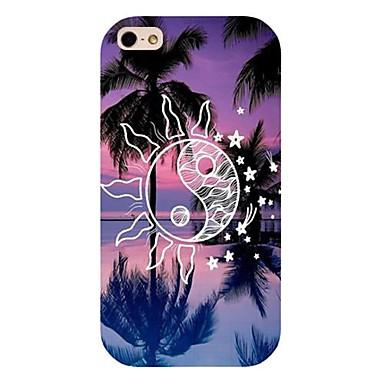 soare nucă de cocos copac model înapoi caz pentru iPhone 4 / 4s