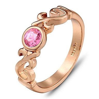 Γυναικεία Δακτύλιος Δήλωσης Χρυσό Rose Gold Επιχρυσωμένο Μοντέρνα Γάμου Πάρτι Καθημερινά Κοστούμια Κοσμήματα