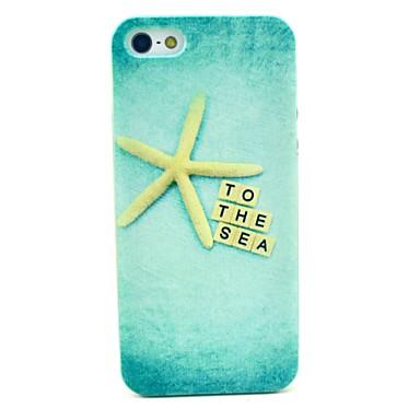 gouden zee ster patroon harde beschermhoes voor iPhone 5c