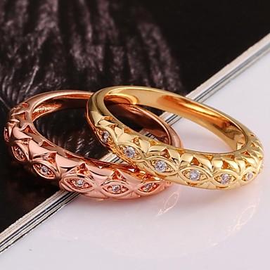 Pentru femei Placat Auriu Inel de declarație - Modă Trandafiriu Auriu Inel Pentru Nuntă Petrecere Zilnic Casual