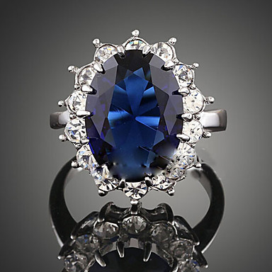 Γυναικεία Κρυστάλλινο / Συνθετικό ζαφείρι Cubic Zirconia / Κράμα Δακτύλιος Δήλωσης - Μοντέρνα Σκούρο μπλε Δαχτυλίδι Για Πάρτι