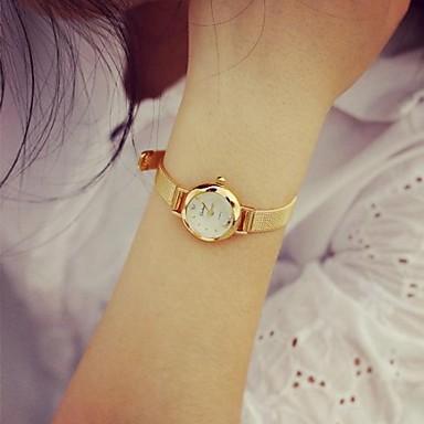 Damen Armbanduhr Quartz Armbanduhren für den Alltag Cool Legierung Band Analog Charme Modisch Gold