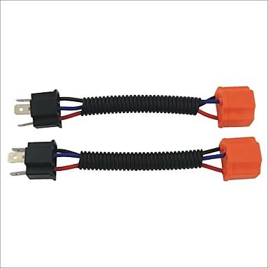 masculino para feminino h4 sockets de cablagens cabo de extensão para carro farol / foglight (2pcs)