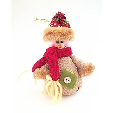 Baumwolle und Leinen Schneemann kleine Puppe Stil, die alte Weisen