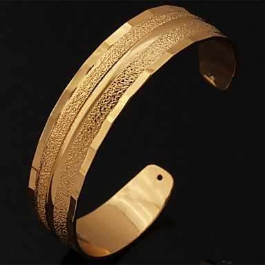 Kadın's Tıknaz Halhallar - Platin Kaplama, Altın Kaplama Bilezikler Gümüş / Altın Uyumluluk Düğün Parti Günlük