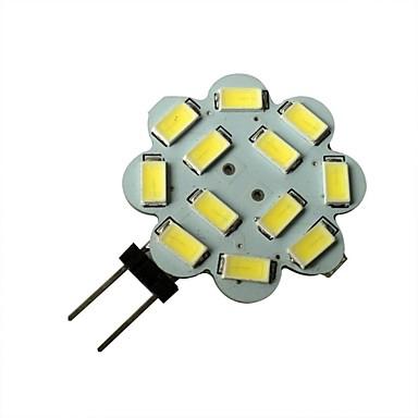 1.5W 6000-6500 lm G4 LED-spotlampen 12 leds SMD 5630 Natuurlijk wit DC 12V