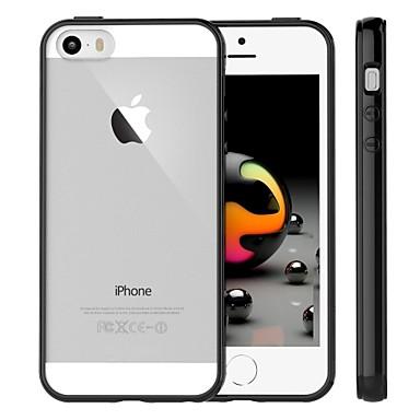 Capinha Para iPhone 5 Apple Capinha iPhone 5 Transparente Capa traseira Côr Sólida Macia TPU para iPhone SE/5s iPhone 5