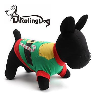 Pisici Câine Tricou Îmbrăcăminte Câini Verde Bumbac Costume Pentru Primăvara & toamnă