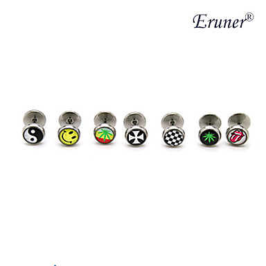 Eruner®Oil Drip Titanium Steel Earrings(Assorted Colors)