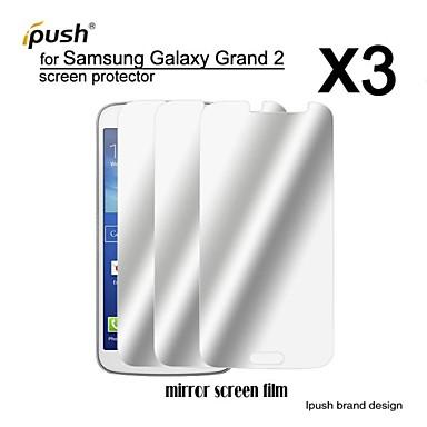 hoge transparantie spiegel lcd screen protector voor de Samsung Galaxy grand 2 (3 stuks)