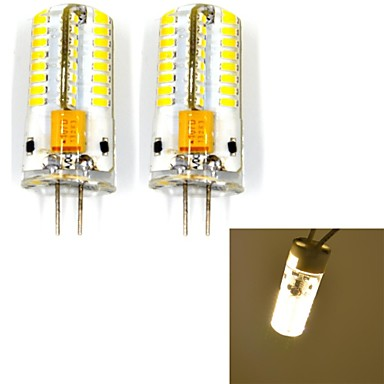 jmt g4 4w 63x3014smd 250lm lumină albă caldă / rece a condus lampă bi-pin (ac / DC12V) 2 buc