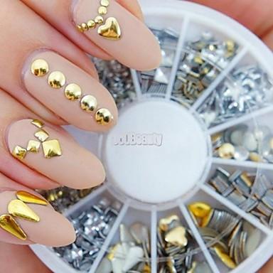 1 pcs Nail Art Takımı Tırnak Takısı Yapay Elmaslar tırnak sanatı Manikür pedikür Günlük Punk / Moda / Nail Jewelry / Metal