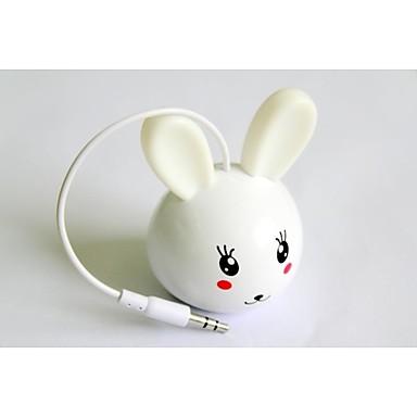 실내와 실외를위한 토끼 휴대용 미니 스피커 사용