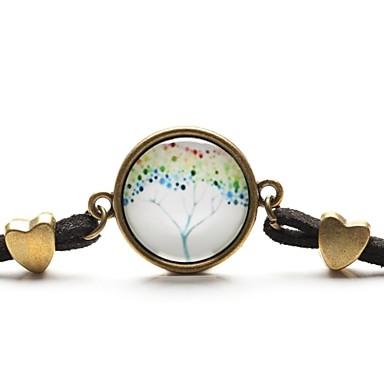 time juweel vrede leven boom hanger ketting kunst boom glas cabochon armband (1 stuk)