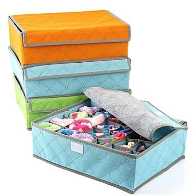 Tekstil Karbon fiber Kapaklı Ev organizasyon, 1set Saklama Sepetleri Depolama / Saklama Kutuları