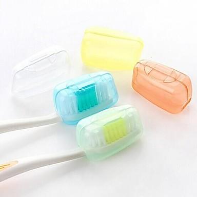 billige Førstehjælp på rejsen-Tandbørstebeholder/beskytter til rejsebrug Vandtæt Bærbar Antibakteriel Toiletsager Ministørrelse Materiale egnet til mad 3.8*2.2*2 cm