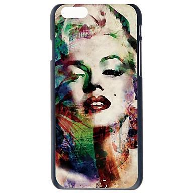 doopootoo ™ fashion Marilyn Monroe ontwerp geschilderd patroon slanke plastic hard terug het geval voor iphone 6 plus 5.5