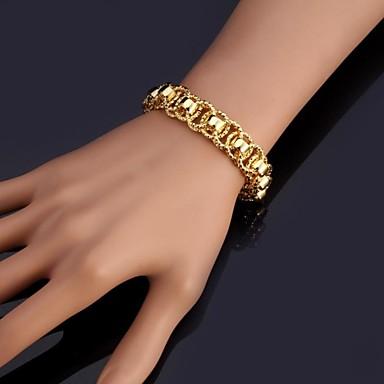 Damen Klobig Ketten- & Glieder-Armbänder Armreife Armband - Platiert, vergoldet Modisch Armbänder Silber / Golden Für Weihnachts Geschenke Hochzeit Party