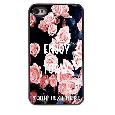 gepersonaliseerde telefoon geval - elegante roze nam ontwerp metalen behuizing voor de iPhone 4 / 4s