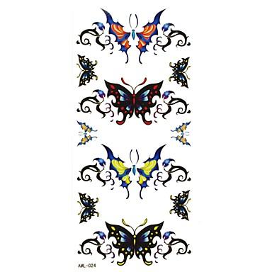 Séries Animal Tatuagem Adesiva - Estampado - para Feminino/Girl/Adulto/Adolescente - de Papel - Preta - #(18.5x8.8) #(1)